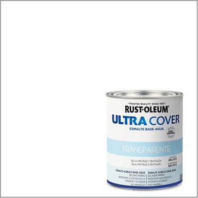 Esmalte al agua Ultra Cover transparente brillante 1/4 gl