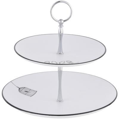 Set 2 plato lovebird pedestal 25 cm