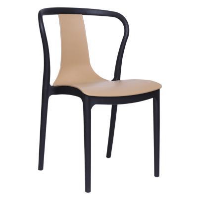 Set 2 sillas truba 84x52x47 cm negro/café