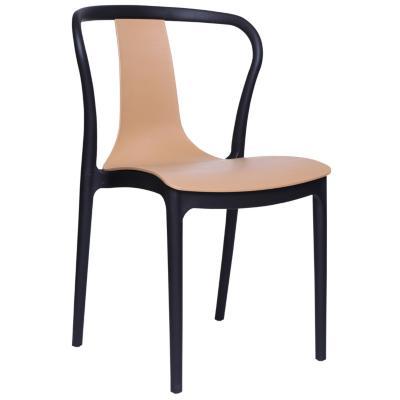 Set 4 sillas  Truba 84x52x47 cm negro/café