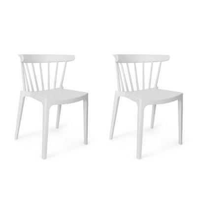 Set sillas saloon 75x53x49 cm blanco