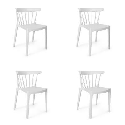 Set 4 Sillas Saloon 75X53X49 cm blanco