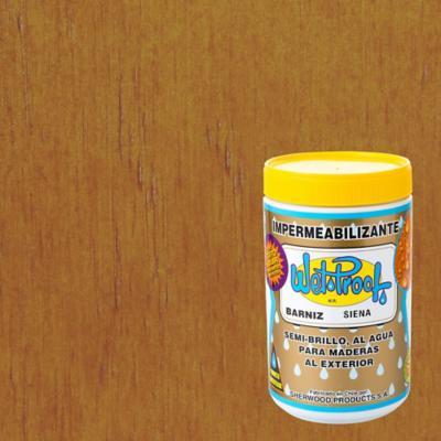 Barniz impermeabilizante semibrillante 1/4 gl Siena