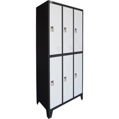 Locker 6 medias puertas bicolor