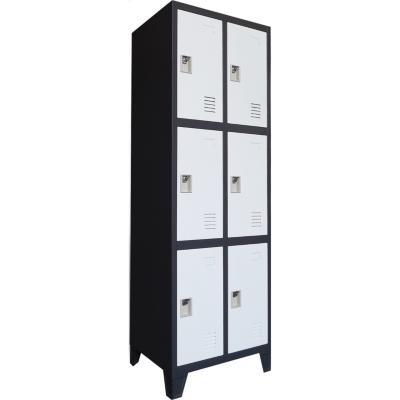 Locker 6 tercios puertas bicolor