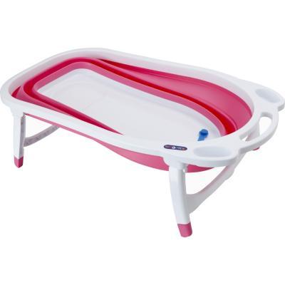 Bañera plegable rosada