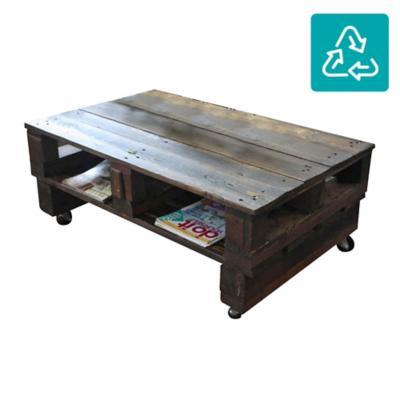 Mesa de centro wood oscura