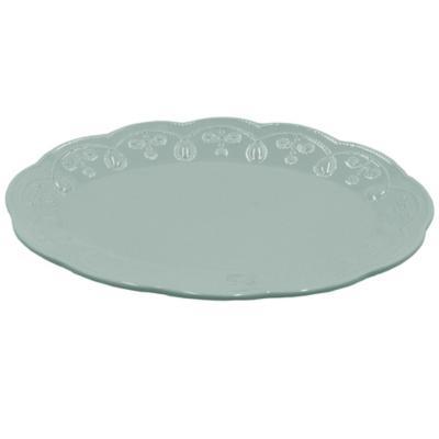 Plato oval aqua 36 cm