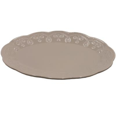 Plato oval gris 36 cm