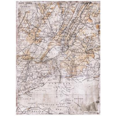 Canvas mapa geográfico 85x113 cm