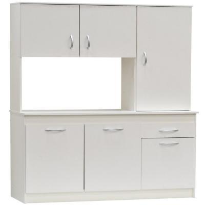 Kit cocina 6 puertas 1 cajon 110x180x38 blanco