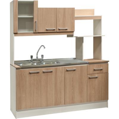 Kit mueble para lavaplatos 167x195x50 cm carvalo
