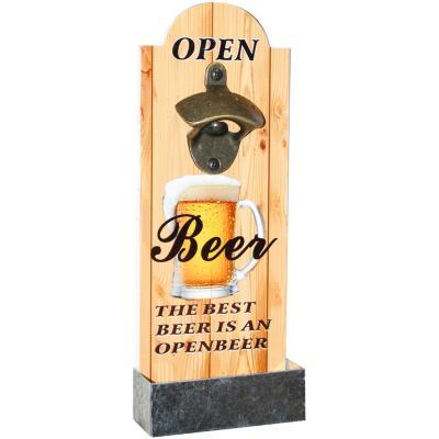 Destapador madera color forma botella 10.5x29.5 cm