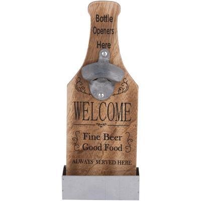 Destapador madera forma botella 10.5x29.5 cm