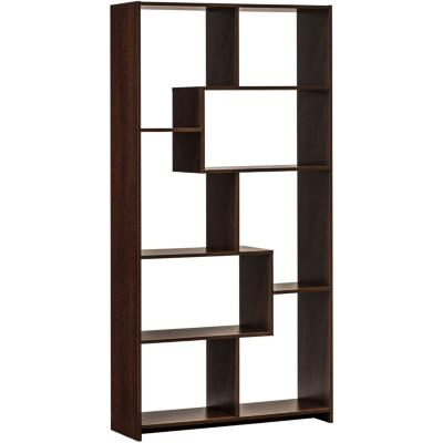 Librero 90x29,5x180 madera aglomerada/melamina color tabaco