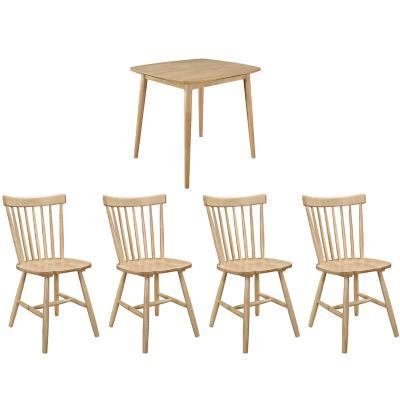 Juego de comedor 4 sillas turin napoles