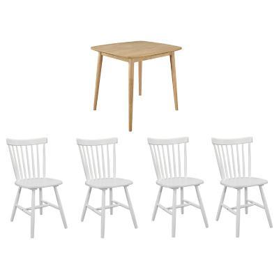 Juego de comedor 4 sillas turin blanco napoles
