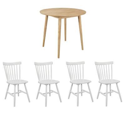 Juego de comedor 4 sillas turin blanco genova