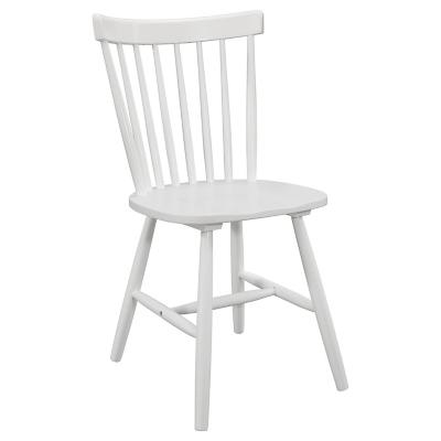 Silla 48,5x51,5x79,5 cm Rubberwood Blanco