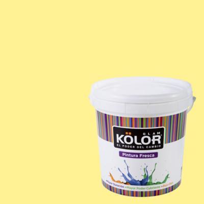 Esmalte al Agua Premium Satinado Amarillo Miknas 1 GL