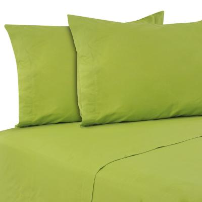 Sábana Lisa 144 hilos verde king