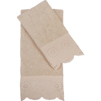 Set 2 Toallas Bordeprint Lace 30x45/40x70 cm beige