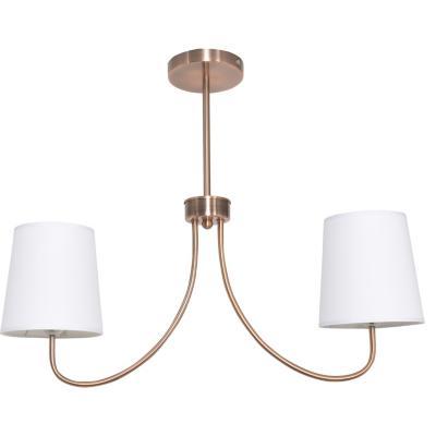 Lámpara de colgar Metal y Tela Cooper Cobre