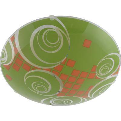 Plafón redondo 30 cm verde/naranja