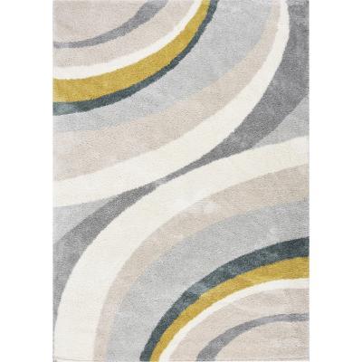 Alfombra jovial curvas 160x230 cm multicolor