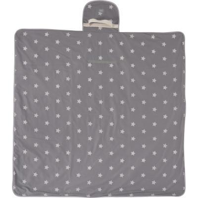 Manta picnic base impermeable estrella gris 142x142 cm