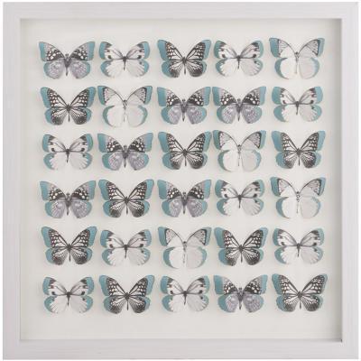 Cuadro enmarcado 43x43 cm mariposas