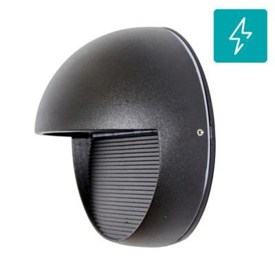 Aplique Round led aluminio negro