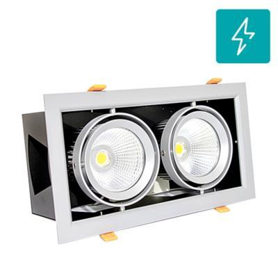 Foco led puzzle doble embutido 60w luz calida orientable