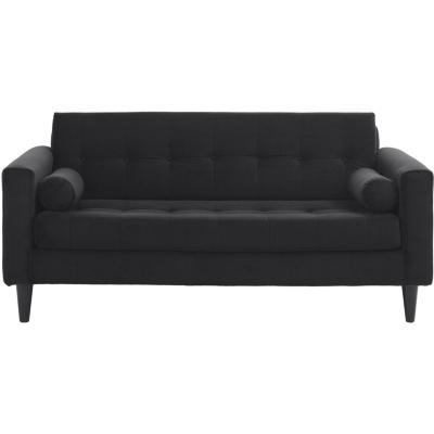 Sofá 2 cuerpos 170x75x70 cm negro
