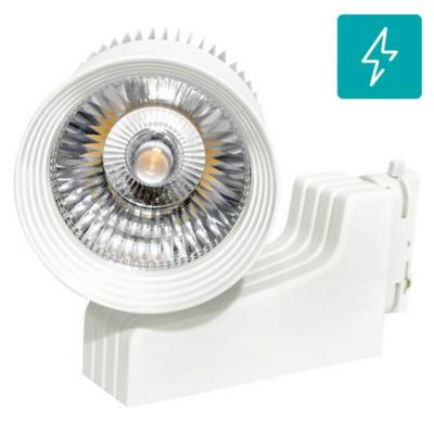 Foco led para riel monofasico 40w luz calida