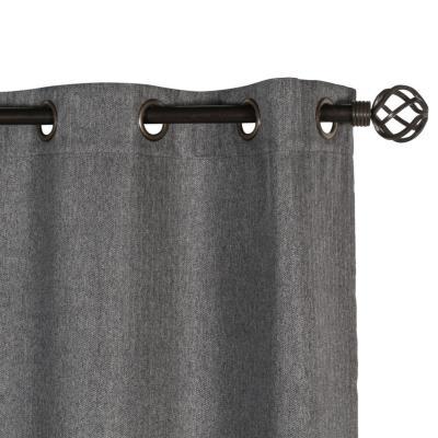 Cortina tela 140x230cm Espiga gris