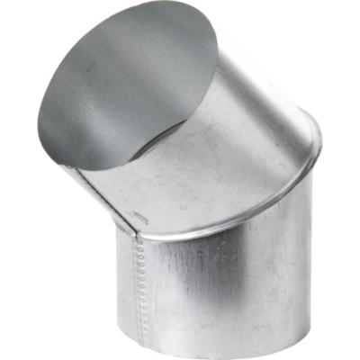 "Codo para tubo acero galvanizado 4.5"" 45º"