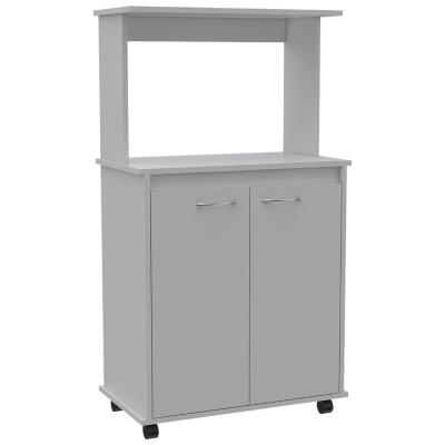 Mueble para microondas 63x36x114 cm blanco