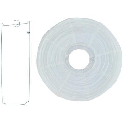 Pantalla papel blanca 30 cm