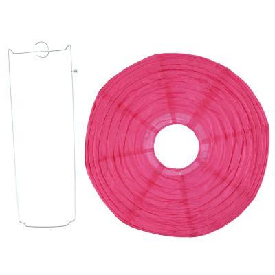 Pantalla papel rosa 30 cm