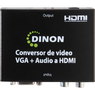 Conversor de video VGA + audio rca a HDMI