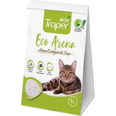 Arena sanitaria para gato ecológica 5 litros