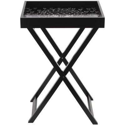 Mesa plegable 44x34x64 cm negro