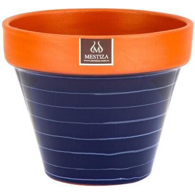 Macetero ceramica terracobalto 19 cm