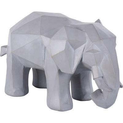 Elefante origami gris 39 cm
