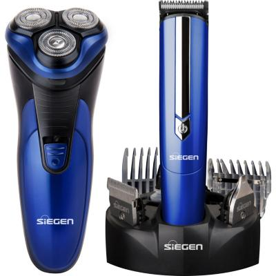Combo afeitadora + corta pelo azul