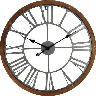 Reloj mural  68 cm Café-plateado