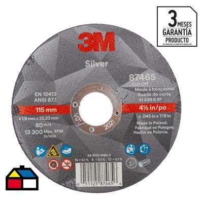 Disco de corte acero inoxidable 4,5'' x 1,6 mm