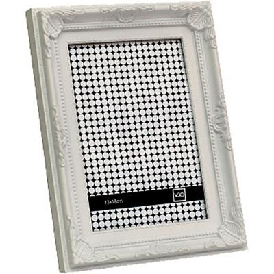 Marco 10x15 cm Plástico Antique Blanco