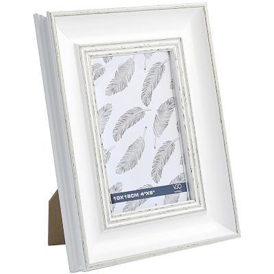 Marco 10x15 cm Plástico Gastado Blanco